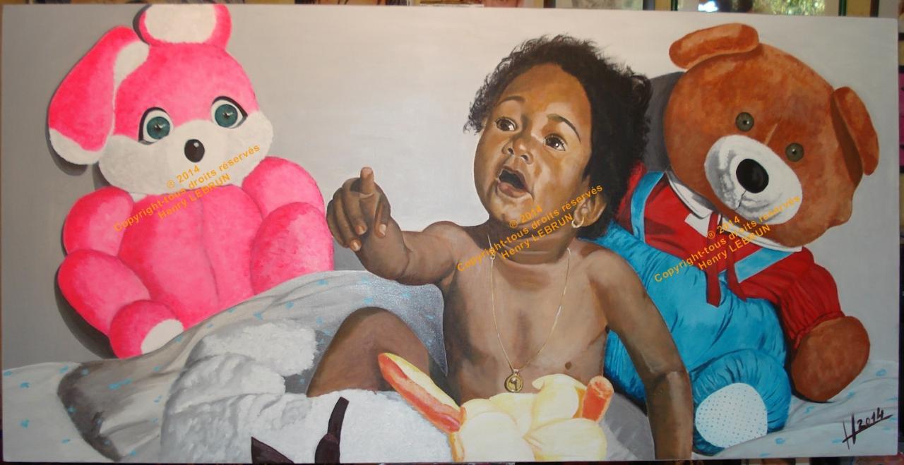 L'enfant aux peluches